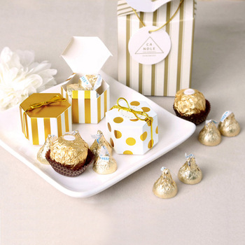 Gift Box Striped Dots Boite Dragees Bonbonniere Packaging Wedding Favor Boxes For Candy Cake Party Present Chocolate Sweet Bags image