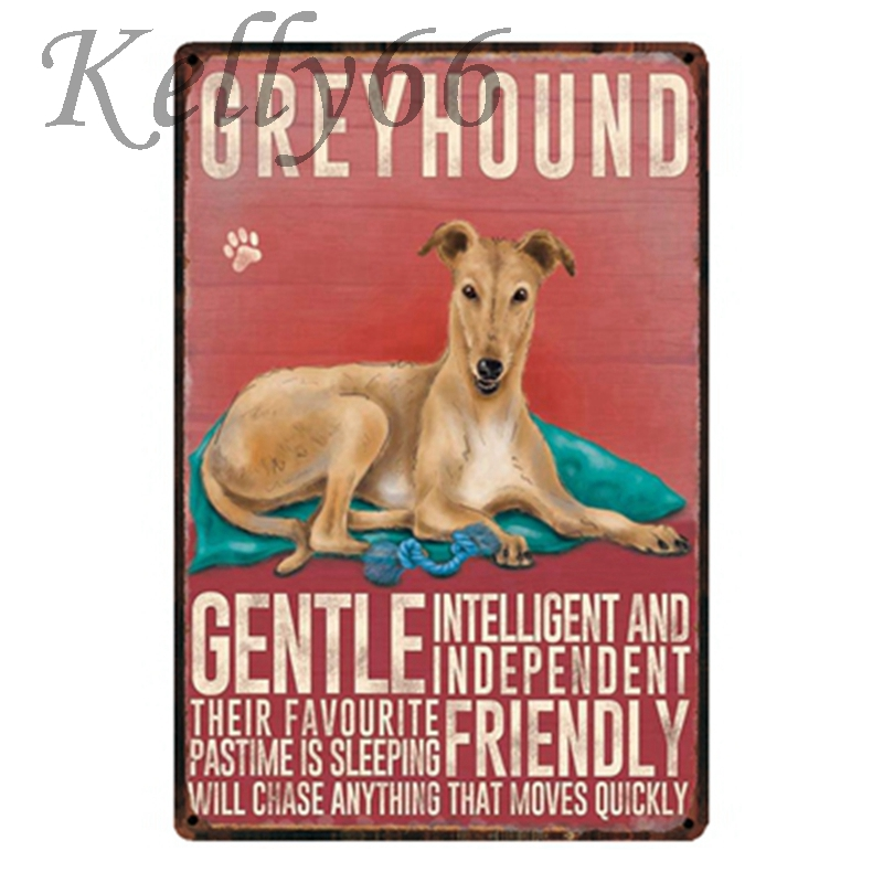 [ Kelly66 ] GREYHOUND Metal Sign Home Decor Bar Wall Art Painting 20*30 CM Size y-1619