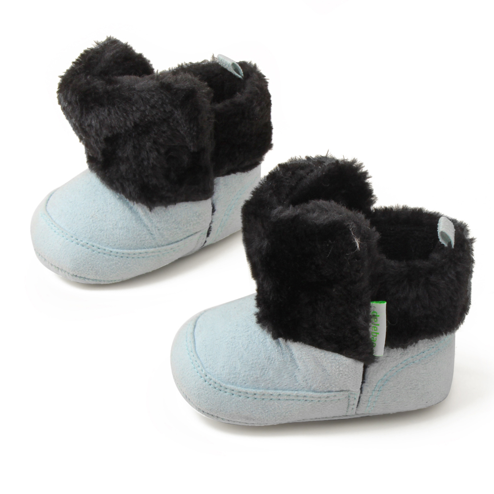 New Warm Baby Soft Moccasins Shoes Shallow Soft Sole Comfortable Winter Boots For 0-18 Months Baby First Walkers