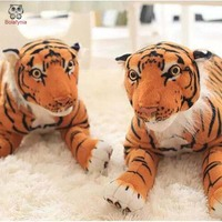 BOLAFYNIA simulation lying tiger children plush Stuffed toy tiger for birthday gift