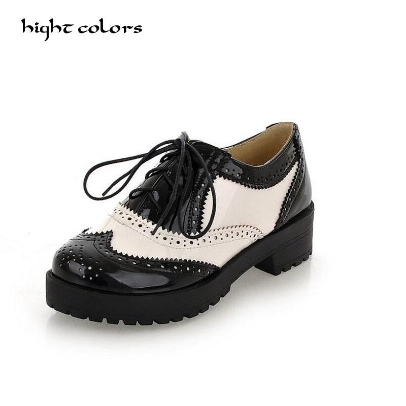 Flat Platform Brogue Creepers Shoes