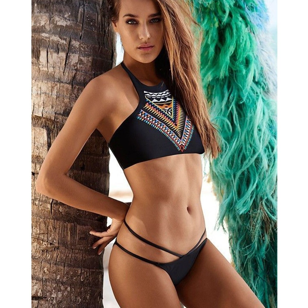 a8a99f75c9 High neck sexy bikini brazilian set solid biquinis bohemia sexy swimwear  bikinis women 2016 swimsuit sexy thong bathing suits488