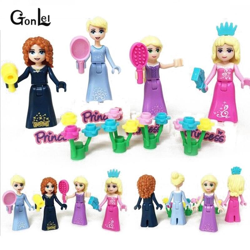 Galleria fotografica 8Pcs/Set Girl <font><b>friends</b></font> Movie Princess Mermaid Elsa Anna Tinker Belle Building Blocks Figures Toys Compatible <font><b>leGoINGly</b></font> <font><b>Friends</b></font>