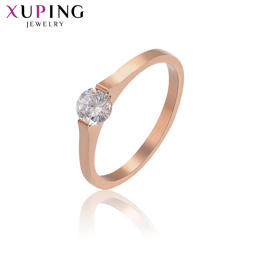 11.11 Deals Xuping Ring Jewelry For Women Stainless Steel Charms Styles Family Party Birthday Fashion Prime Gift S182.7-16248