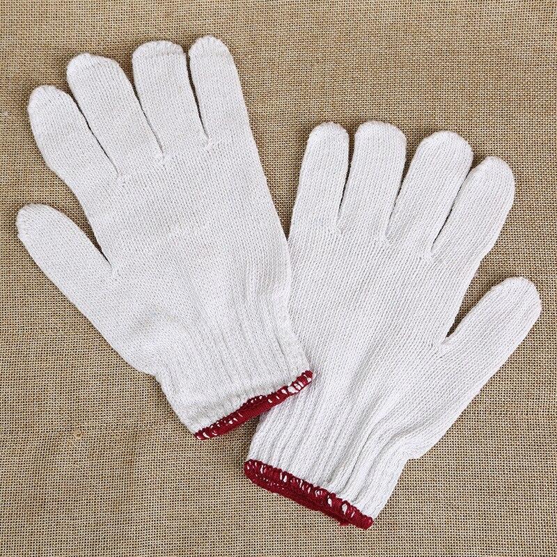 5 คู่หยาบเส้นด้ายฝ้ายประกันแรงงานถุงมือป้องกันการทำงานสวมใส่หนาความปลอดภัยช่าง Anti - static