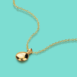 New Women's s925 Silver Necklace Simple Small Golden Bean Pendant Clavicle Chain Length 40+5cm Solid Silver Jewelry girl present