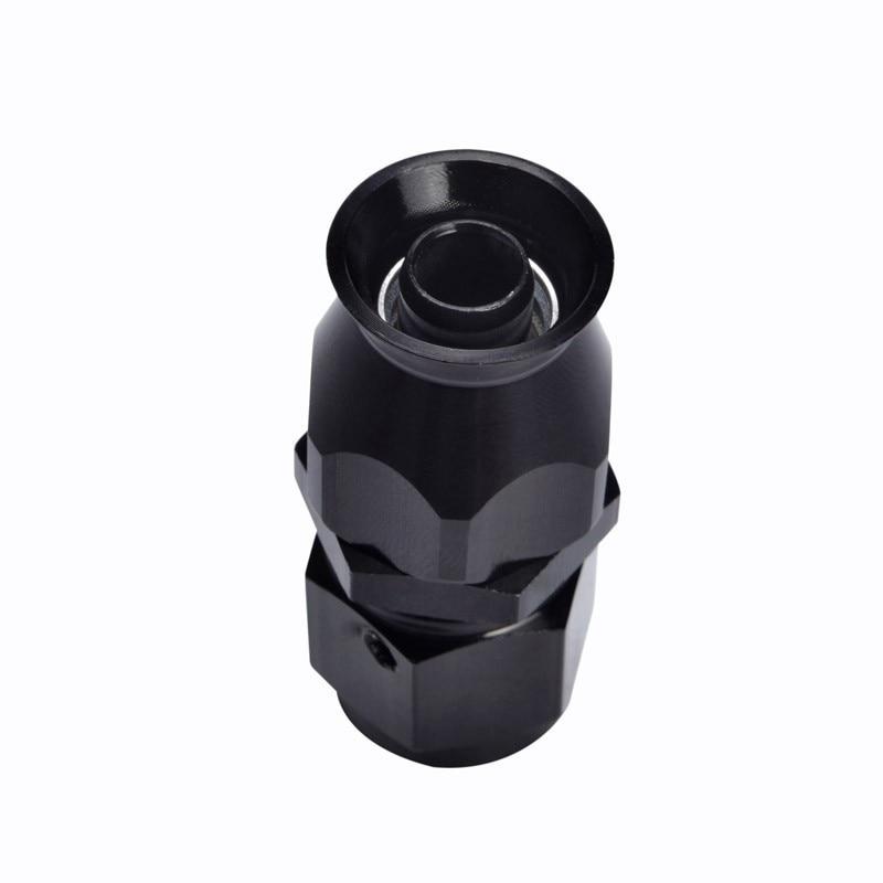 SPEEDWOW AN6 0/45/90/180 градусов Многоразовые PTFE фитинг для адаптера переменного тока к женскому переходник для тефлоновый шланг поворотные шланга Черный - Цвет: 0degree