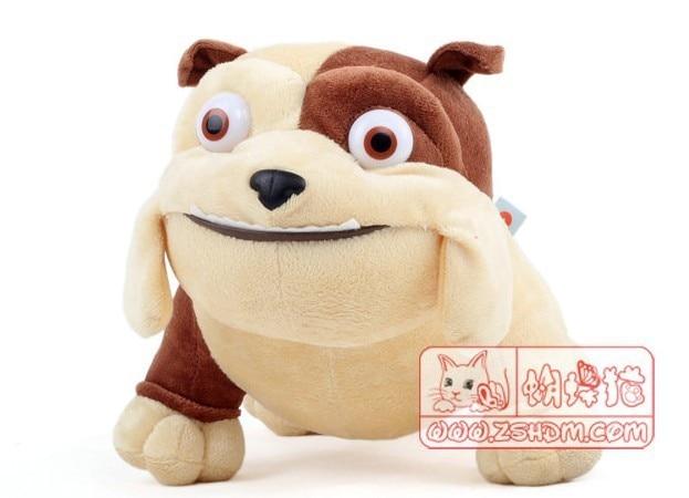Original Rio Movie Luiz Luis Plush Bull Dog Brown Tan RARE HARD TO FIND Dolls Toys 35cm