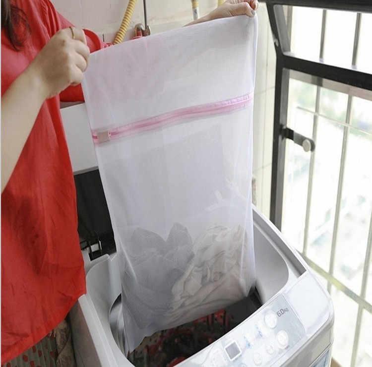 Nova Lavagem De Roupa Sacos de Malha Com Zíper Dobrável 3 Tamanhos Lingerie Meias Sutiã Cueca Máquina de Lavar Roupas de Proteção Net