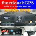 GPS MDVR AHD 4ch video del vehículo apoya el desarrollo de otros idiomas dual MDVR tarjeta SD de a bordo anfitrión monitoreo