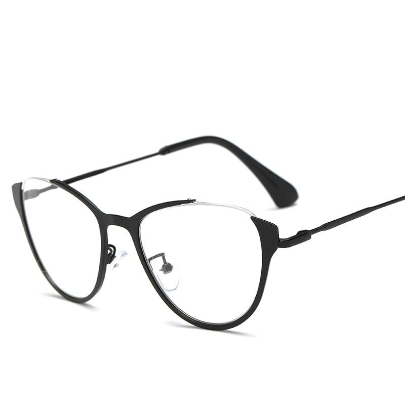 954ba3411b5 MINCL  Black sexy fashion eyewear designer brand luxury big glasse frames  for women female gold NX-in Eyewear Frames from Apparel Accessories on ...