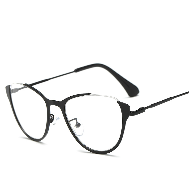 8626d526d95 MINCL  Black sexy fashion eyewear designer brand luxury big glasse frames  for women female gold NX