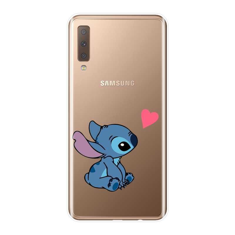 Милые эластичный, мягкий, силиконовый чехол для телефона для samsung Galaxy A5 A7 2018 A6 A8 плюс задняя крышка для samsung Galaxy A3 A5 A7 2016 2017