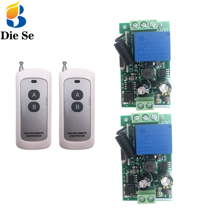 433MHz Wireless Universal Remote Control Switch AC 100V 220V 10A 1CH rf Relay Receiver and Transmitters 500m long range control in Switches from Lights Lighting