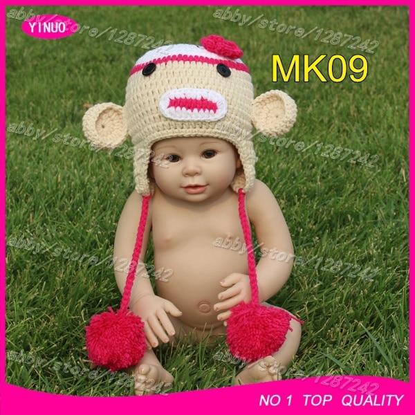 New designer monkey crochet hats for baby girls 802f0030883