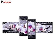 HUACAN Новое искусство DIY 5D алмазная вышивка крестиком алмазная живопись для дома декоративные подарки модный цветок шт. 4 шт. рукоделие