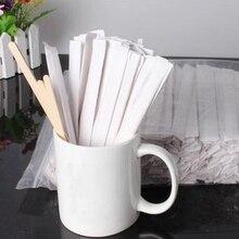 50 шт. натуральные деревянные палочки для перемешивания кофе Мороженое ложка