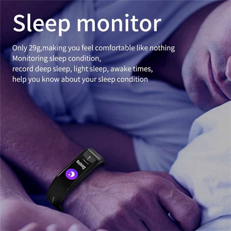 Многоязычный браслет Bluetooth соединение монитор сердечного ритма термометр напоминание о звонках отслеживание сна Смарт-часы Android iOS