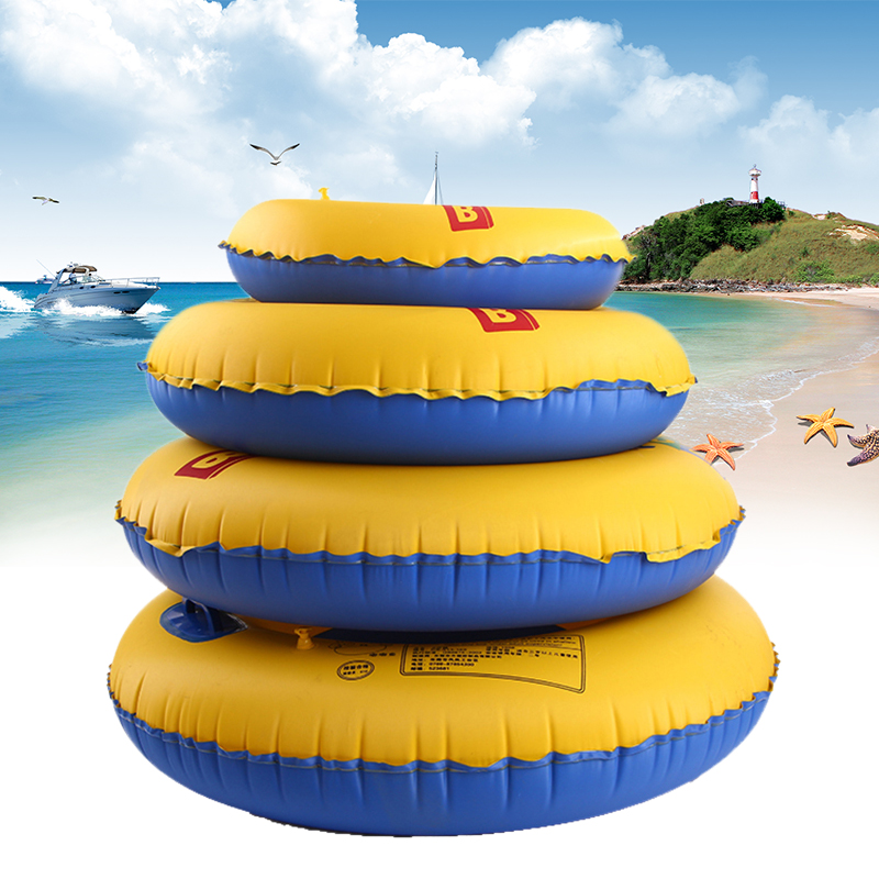 Newest Swimming Right Adult Children Summer Inflatable Double color Swim Ring Swimming Pool Boardwalk Swim Ring Free shipping