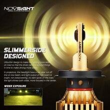 NOVSIGHT автомобиля светодиодный лампы для передних фар H4 светодиодный H7 H1 H3 H11 H13 9005 9006 9007 72 Вт 12000lm автомобильных фар Светодиодный 3000 К золотисто-желтый