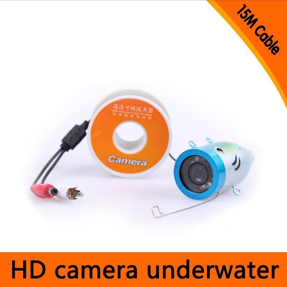 15Meters Depth Underwater Camera with 8PCS white LEDS & Leds Adjustable for Fish Finder & Diving Camera free shipping 50meters depth underwater camera with 12pcs white leds