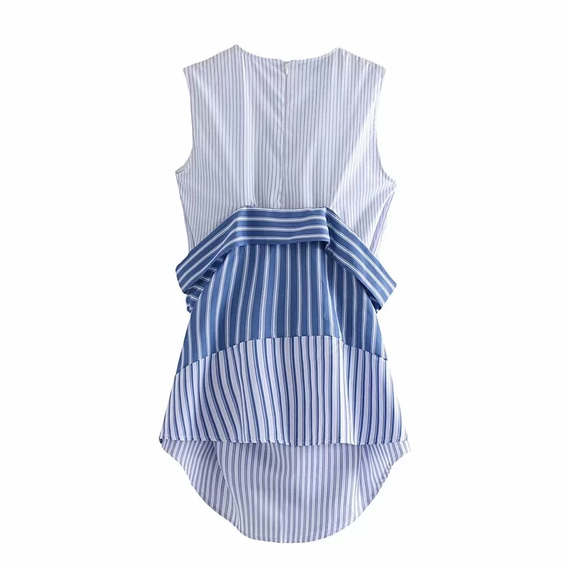 Women Shirt Stripe Blouses Wild Bow Summer Patchwork Strapless Shoulder White Vest Fashion Female Shirts Wear Both Tops Shirt in Blouses amp Shirts from Women 39 s Clothing