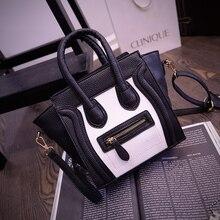 Mode personalisierte tasche farbblock smiley kleine taschen frauen messenger schultertasche t-98866