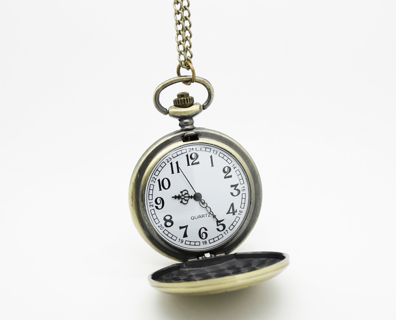 1091) 12 шт./лот стимпанк с удлиненными брюками, Винтаж бронза череп карманные часы Цепочки и ожерелья