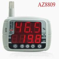 AZ8809 Температура рекордер светодиодный Дисплей, влажность Температура Logger, гигротермограф часы влажность температура гигрограф USB ,темпера