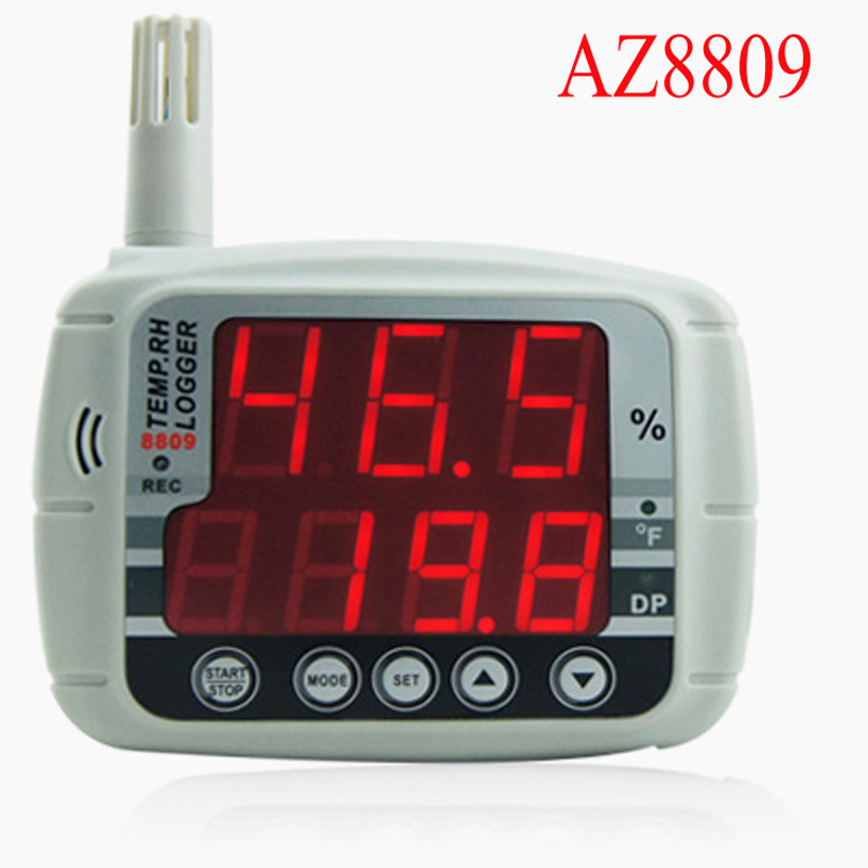 AZ8809 usb temperature recorder LED Display, Temperature Logger , Hygrothermograph humidity data logger temperature humidity цена
