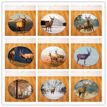 Deer Round Carpet Kids Play Tent Gym Rug Bedroom Living Room Coffee Table Floor Mats /Baby Crawling Carpets(China)