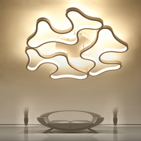 Led Ceiling Lights Modern Lamp Aluminum Remote Control Dimming Lighting Fixture For Living Dining Bedroom Restaurant Room Light