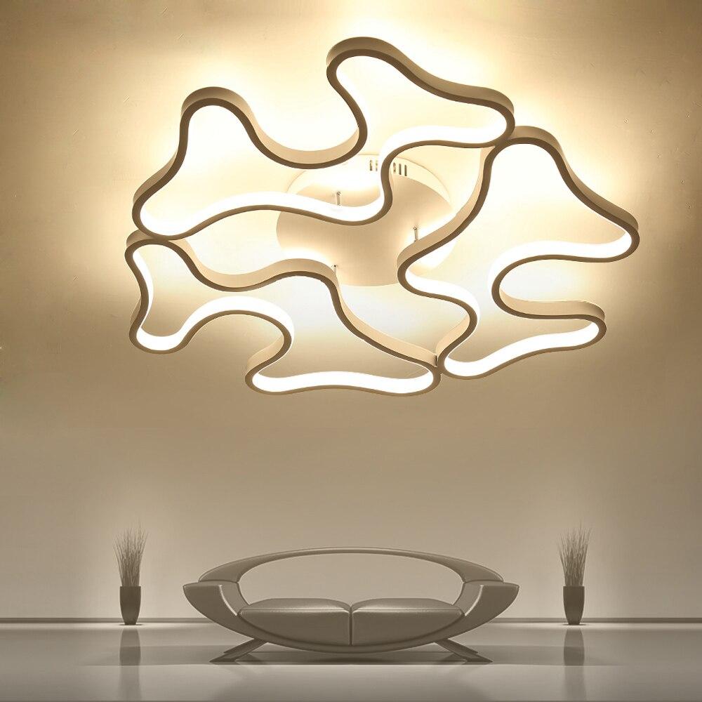 Led Plafond Lumières Moderne Lampe En Aluminium Télécommande Gradation Luminaire Pour Salon Salle À Manger Chambre Restaurant Chambre Lumière