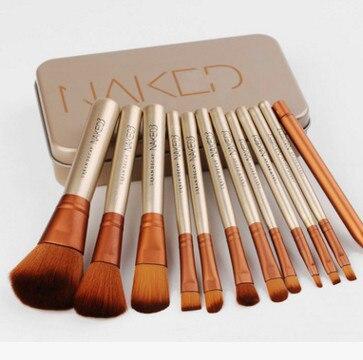 12 Pcs Nake Brosses Cosmétiques outils NK3 Or Rose Visage de Fard À Paupières Eyeliner Pinceau À Lèvres Set Outil Pinceis Maquiage Make Up