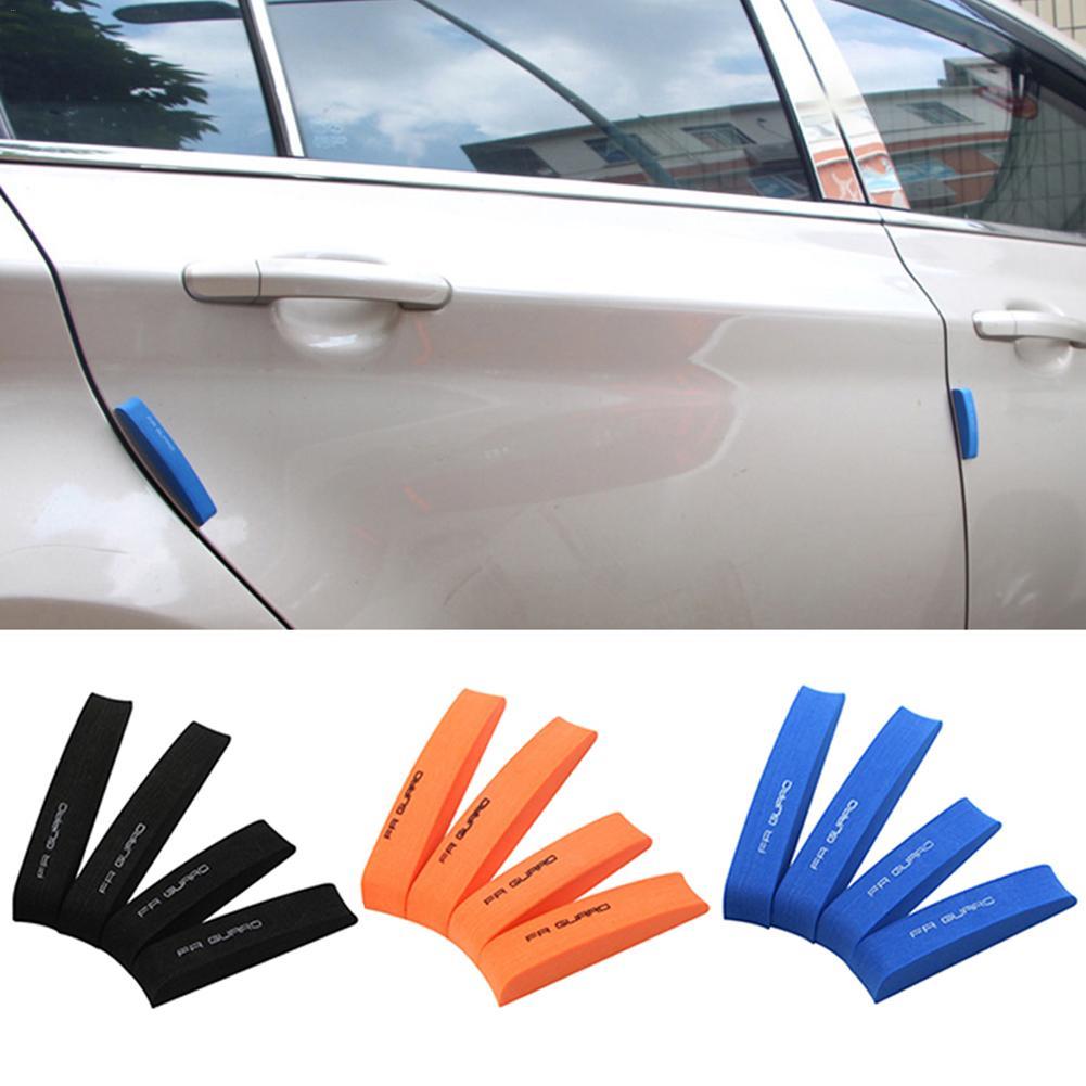 4x Car Door Edge Guard Anti-collision Trim Strip Bumper Scratch Protector Black