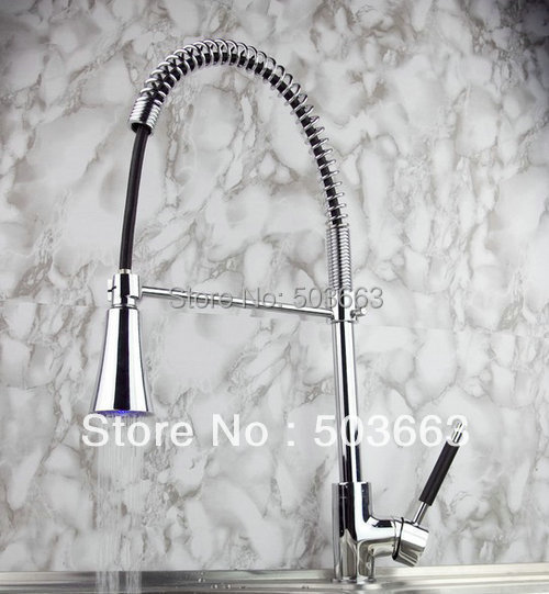 New Brass Faucets For Kitchen LED Basin Mixer Taps Chrome Finished S 672 Mixer Tap Faucet
