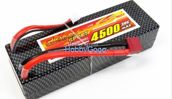 Livraison gratuite 4500 mAh 11.1 V 3 S 30C Taux Élevé Lipo batterie Étui burst 60C pour voiture Électrique 1/8e 1/10e mise à niveau