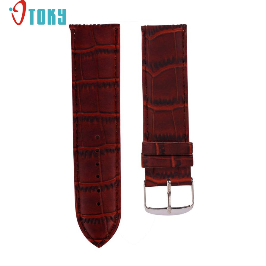 SUNWARD Hot Unique   18mm High Quality Soft Sweatband Leather Strap Steel Buckle Wrist Watch Band Drop ship F12 high quality soft sweatband leather strap steel buckle wrist watch band 3522 brand new luxury free shipping
