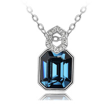 2017 mother's Day jewelry charming pendant necklace with crystal from swarovski factory wholesale bijoux(China)