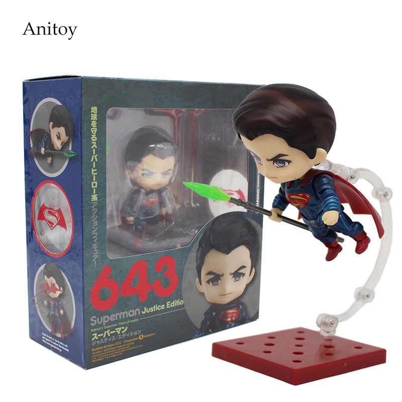 Batman V Superman Nendoroid 1/10 scale painted figure #643 PVC Action Figure Collectible Model Toy 10cm KT3929 terminator 3 rise of the machines t x 1 6 scale pre painted pvc action figure collectible model toy 28cm