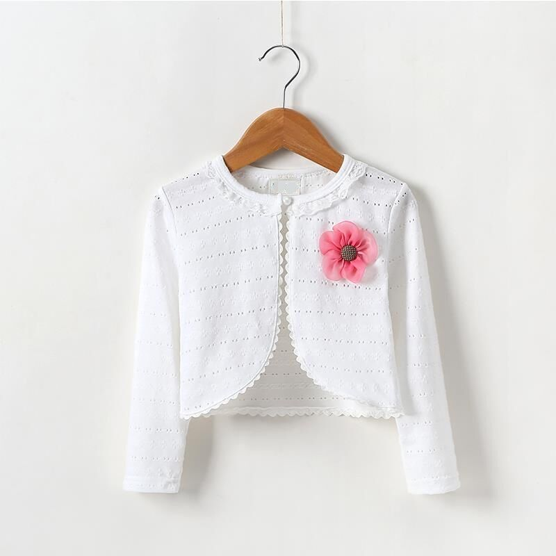 1,2,3,4,5,6,8,10Y Baby Cardigan Sweaters Cotton Polyester Thin Long Sleeve Kids Girl Cardigan Knitting Pattern KC-1541 geometric pattern irregular front fly cardigan