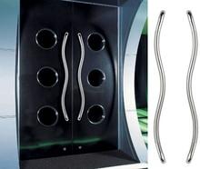 Входная Дверь Ручка 32*900 мм, S-образный изгиб Трубы Из Нержавеющей Стали Тянуть Ручки Используется Для Стекла, деревянные Двери Frame HM82