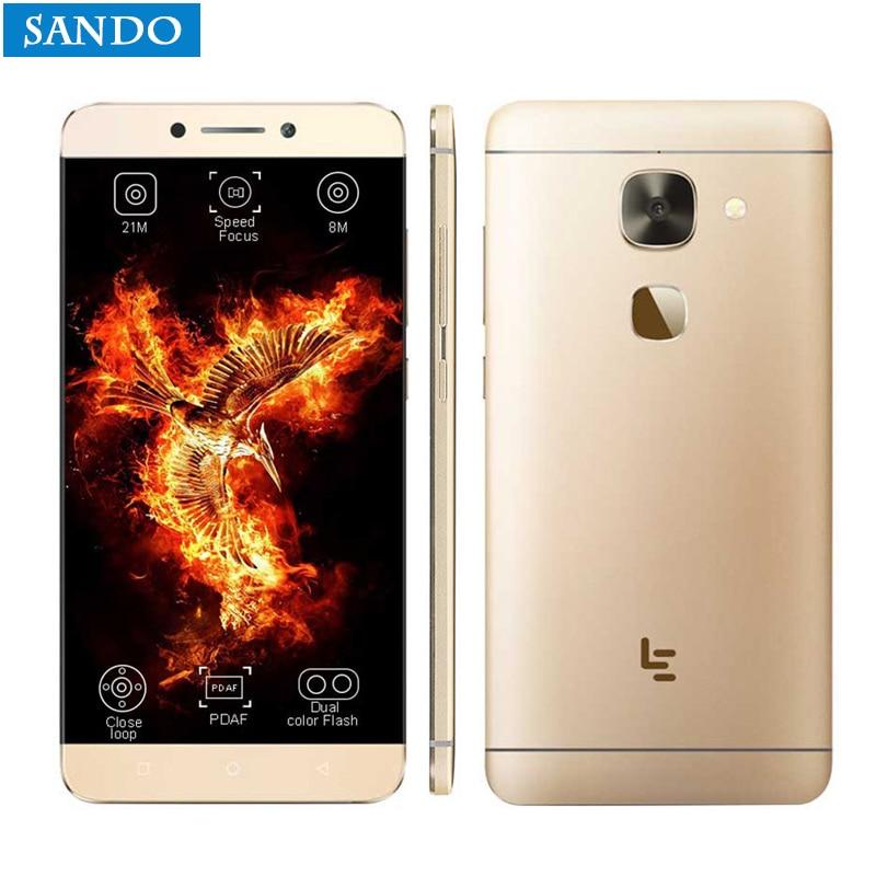 D'origine Letv Le 2X620X626 32g ROM Android 6.0 Helio X20 Deca Core 2.3 ghz 5.5 ''16MP Caméra Empreintes Digitales intelligente téléphone android