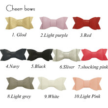 6 pcs/bag Retail Artificial Leather Hair Bows Solid Bow Knot Hair Clips For Girls Hairgrips Fashion Barrettes Head Band(China)