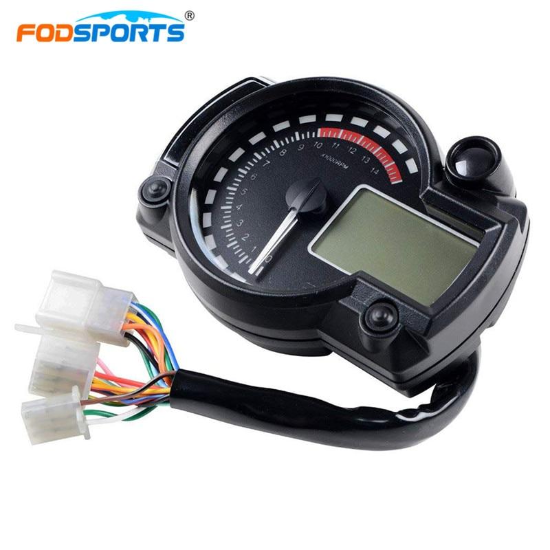 Fodsports Universal Motorcycle Digital Speedometer 12v