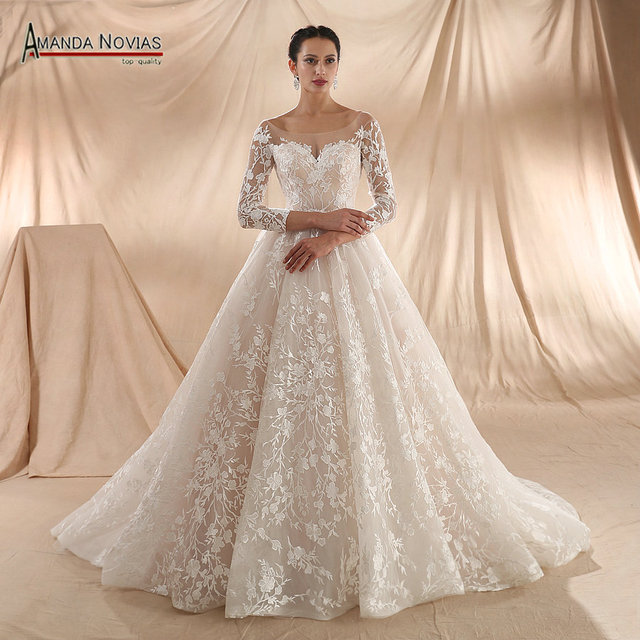 robe de soiree 2020 New Arrival Wedding Dress Champagne Wedding Dress Actual Real Photos