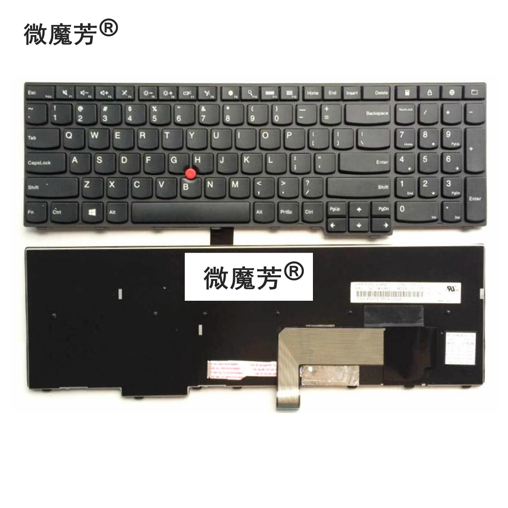 US Black New English Replace laptop keyboard For Lenovo For ThinkPad E531 L540 W540 T540 T540P E540 W550 W541 image