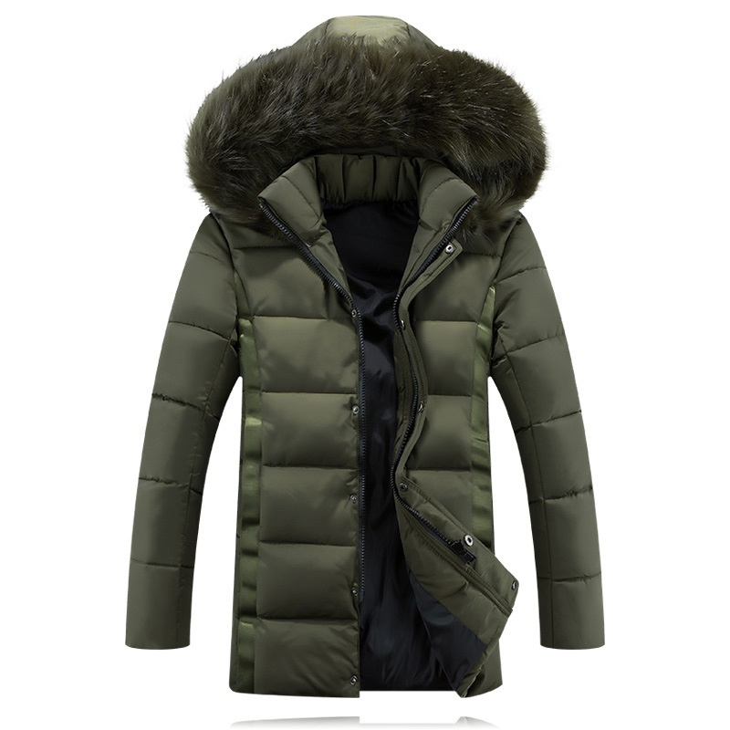 2016 Mens Warm Polyester Down Jackets Men's Thick Windproof Cotton-Padded Coats Casual Men Winter Jacket Hooded 4XL 5XL,Y132F fashion detachable hooded thick jackets men warm winter jacket parka men 2017 loose mens coats overcoats windproof cotton parkas