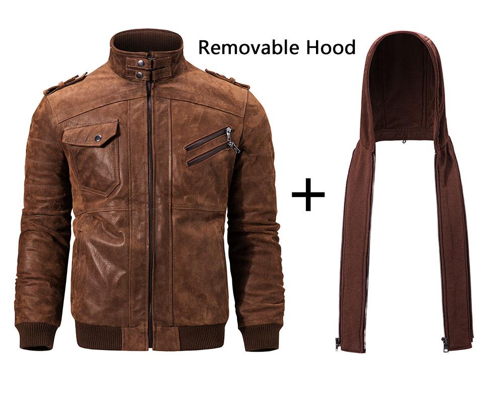 HTB1nGCYdjbguuRkHFrdq6z.LFXam Men's Real Leather Jacket Men Motorcycle Removable Hood winter coat Men Warm Genuine Leather Jackets