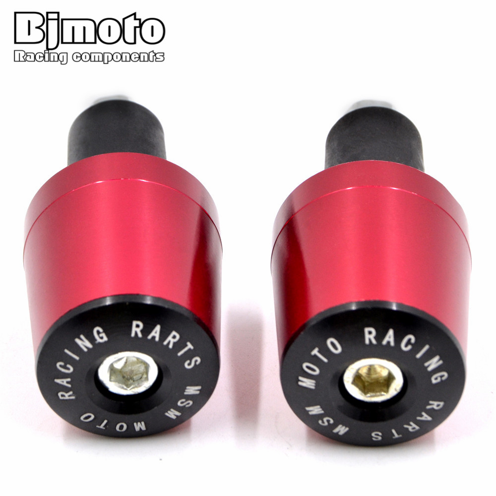 1 Pair MTB Bike Handlebar Grips Bar End Cap 22mm Plug Motor Bar Counterweight Grips End For Kawasaki Ninja Yamaha Honda Suzuki